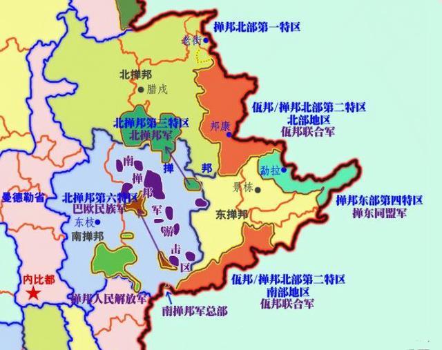 小勐拉交通地图
