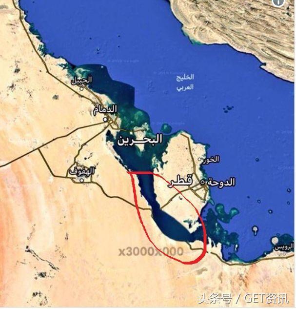 卡塔尔位于海湾西南岸的卡塔尔半岛,唯一的陆地邻国是沙特.