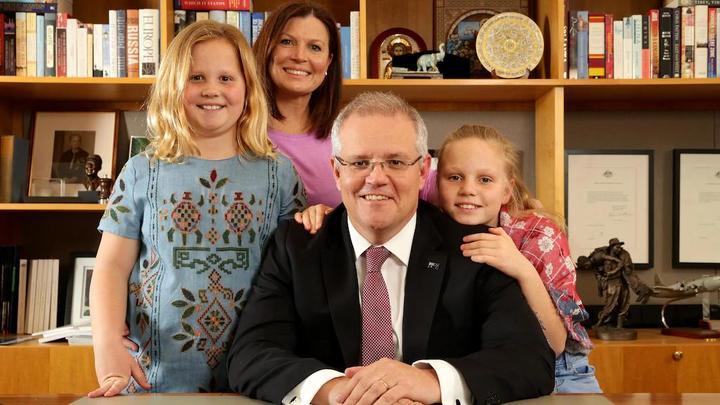 澳大利亚总理斯科特·莫里森(scott morrison)和他的家人