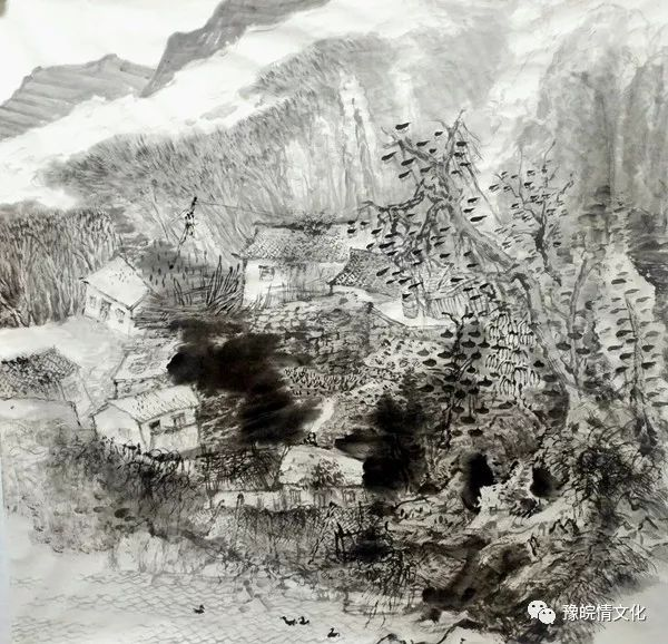 河南风景水墨